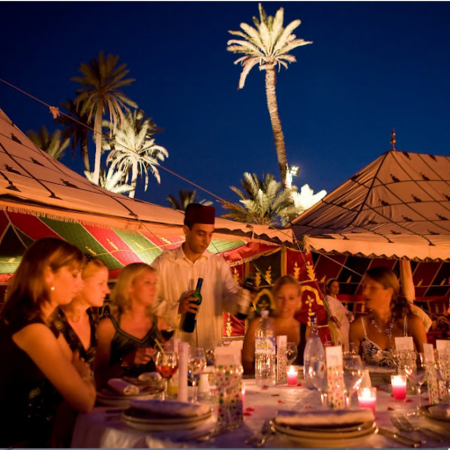 Exclusive Berber theme private evening within an oasis of palm trees