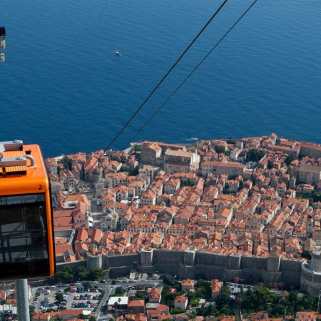 Take a cable car ride to the top of Mt Srđ