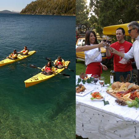Kayak and picnic over the lake in Bariloche