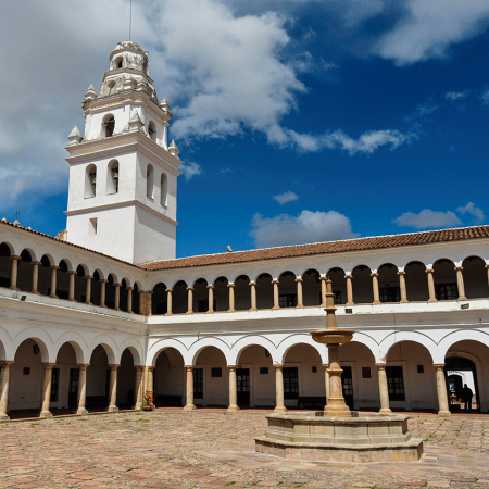 Sucre, the capital of Bolivia, is also known as the white city due to its beautiful colonial downtown.