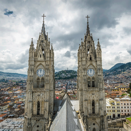 Enjoy the Colonial city and marvel on the spectacular landscape of towers, domes, charming plazas, and glittering altars.