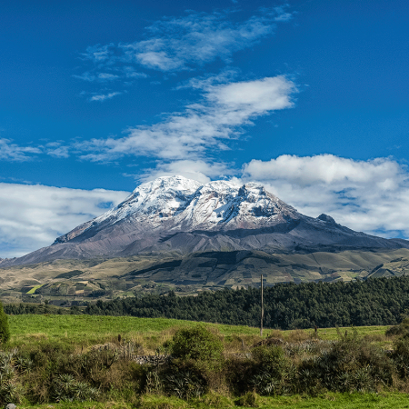 "Admire the famous ""Avenue of Volcanoes"" and its fascinating villages, culture and traditions."