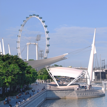 Ride the world's largest Ferris wheel, the Singapore Flyer.