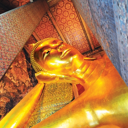 Visit the world's largest reclining Buddha at Wat Pho and tour the majestic Grand Palace.
