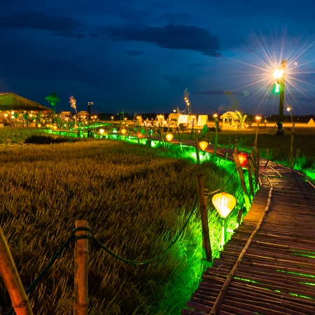Our team in Vietnam created a private village community within a local rice plantation situated between Hoi An and Danang.