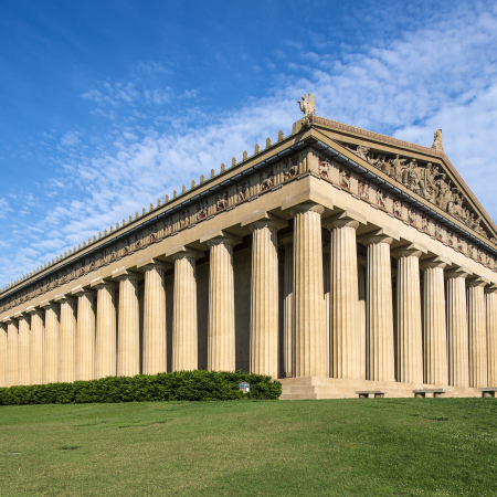 The Parthenon, the only full size replica of the original Parthenon in Athens, Greece.
