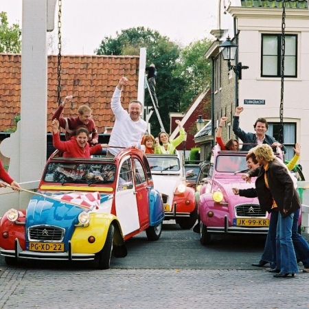 Experience the Dutch Countryside during a 2CV rally.