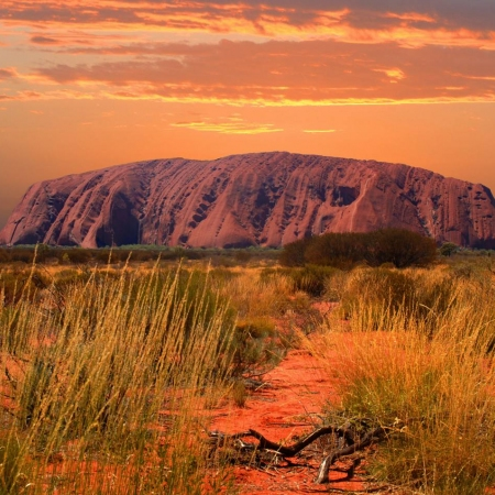 Experience the world's oldest culture with the Australian indigenous community when visiting the sacred Uluru in central Australia