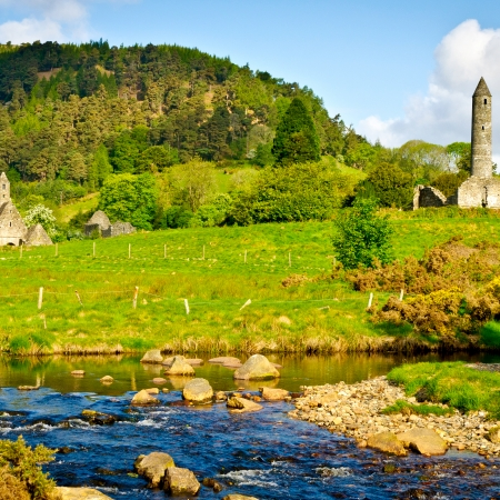 Visit the monastic site of Glendalough and enjoy champagne and canapés