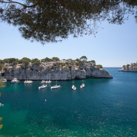 Take a regatta in the preserved Calanques with its limestone cliffs and warm waters.
