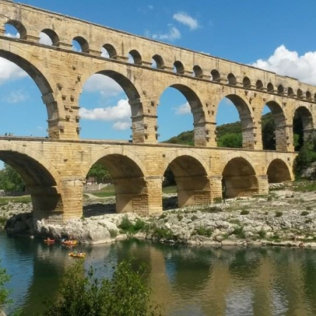 Go kayaking under the picturesque UNESCO-protected Pont du Gard.