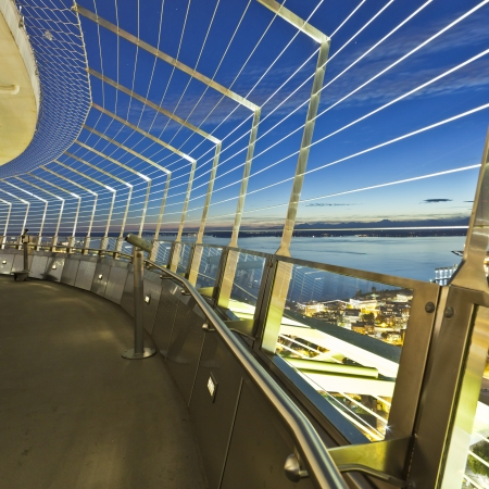Take a 41 second ride up 520 feet and stick close to the windows and see Seattle's panoramic views in the Space Needle.