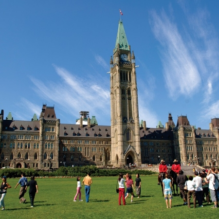 Parliament Hill is home of Canada's national government and the setting for national celebrations the year round.