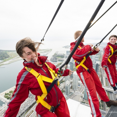 Stroll along the highest sidewalk on the CN Tower's Edgewalk
