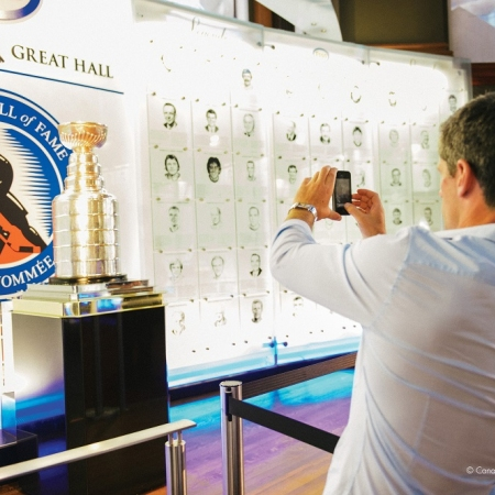 Visit the Hockey Hall of Fame and experience hockey, Canadian's favorite past-time and obsession with an interactive and immersive experience