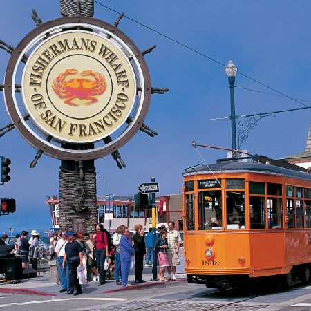 Stroll the iconic Golden Gate Bridge, ride the Cable Car and walk the Streets of Chinatown.