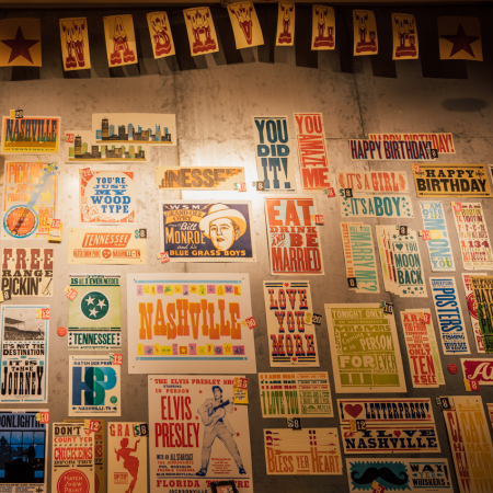 Tour Hatch Show Print and create your own iconic letterpress print