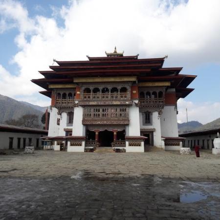 Meditation at a monastery in Thimphu