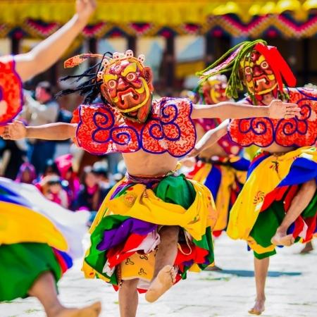 Organization of a mock festival in Paro