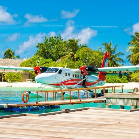 Experience a Sea plane ride on your way to the luxury getaway