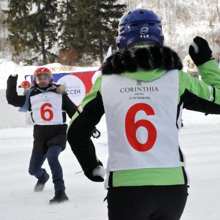 """Yukigassen"" snowball fight in the St. Petersburg suburbs."