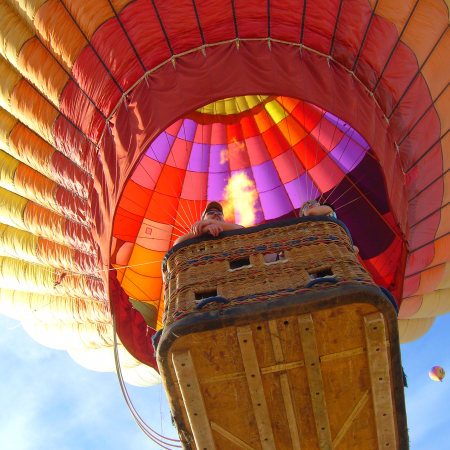 Arizona desert hot air balloon rides