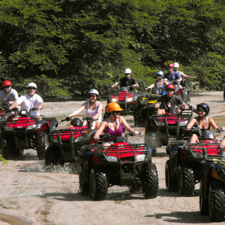 Eco and Extreme Tours, due our excellent location and our Sierra Madre mountains, we have the best zip lining programs, extreme activities such as rappelling, razor and atv´s routes.