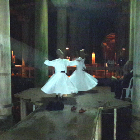 Whirling Dervish performance in exclusively rented Underground Cistern