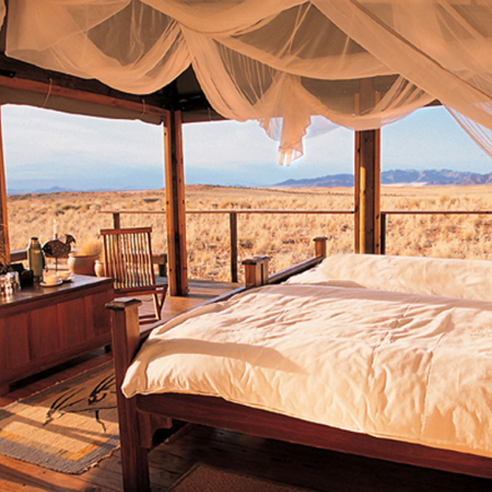 Live in a tented camp in the desert and encounter wildlife on your doorstep