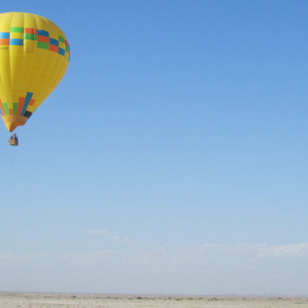 The best way to experience the desert is with a hot air balloon safari