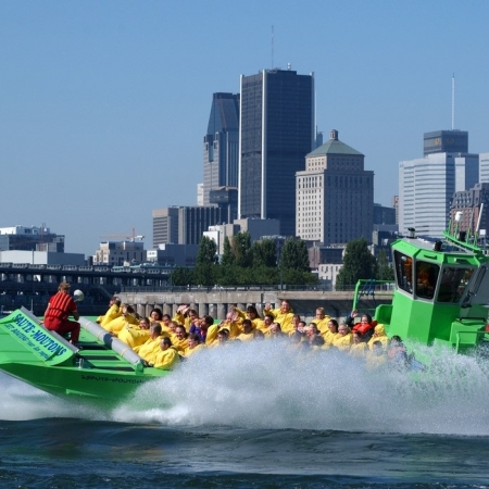 Jet Boating the Lachine Rapids is not only a local tourist attraction, but a symbol of the spirit, history, fun and adventure that make Montreal a world-class tourist destination. This spectacular 1 hour ride on the St-Lawrence River, is Montreal's most refreshing activity: wet, wild, wonderful, and should not be missed by anyone!